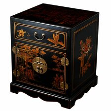 Handmade Oriental Antique Nightstand