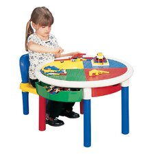 Children's Round Lego Table
