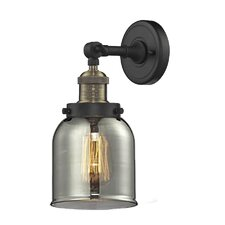 Carley 1-Light Glass Bell Wall Sconce