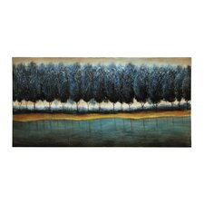 Tranquil Blue Forest Painting