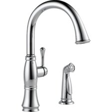 Cassidy Single Handle Standard Kitchen Faucet with Spray