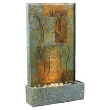 copper vines slate floor fountain - Fountain For Home Decoration