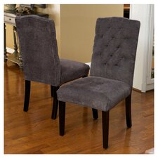Carrize Crown Top Fabric Dining Chair (Set of 2)
