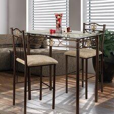 Cloville 3 Piece Counter Height Pub Table Set