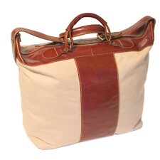 """Piana 18"""" Travel Duffel with Leather Trim"""