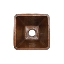 "17"" x 17"" Square Hammered Bar Sink"