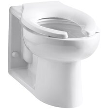 Anglesey Floor-Mounted Wall-Outlet 1.6 GPF Flushometer Valve Elongated Bowl with Rear Inlet