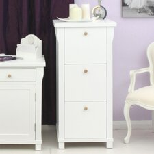 Hampton White Painted 3-Drawer Vertical Filing Cabinet