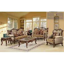 Jenna 2 Piece Traditional Sofa and Loveseat Set  by BestMasterFurniture