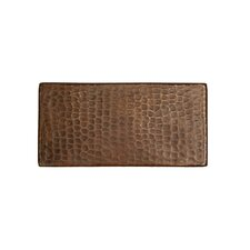 """3"""" x 6"""" Hammered Copper Tile in Oil Rubbed Bronze (Set of 4)"""