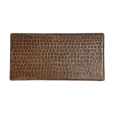"""4"""" x 8"""" Hammered Copper Tile in Oil Rubbed Bronze (Set of 8)"""