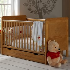 Disney Winnie the Pooh Deluxe 2-in-1 Convertible Cot with Mattress