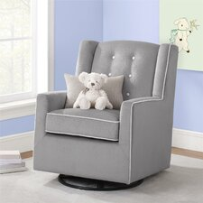 Emmett Button Tufted Swivel Glider