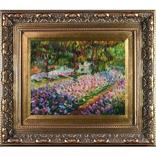 Artists Garden at Giverny by Claude Monet Framed Oil Painting on canvas