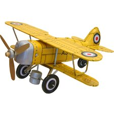 "Collectible Tin Toy Model ""Curtis"" Biplane"