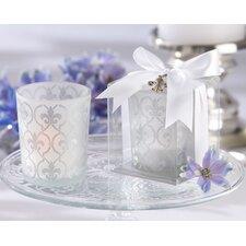 Fleur-de-lis Glass Tea Light Holder (Set of 20)