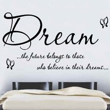Dream Quote Wall Sticker