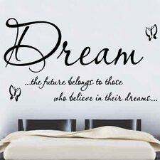 Dream Quote Wall Sticker