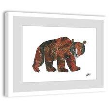 'Big Brown Bear 2' by Eric Carle Framed Painting Print