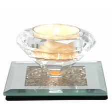 Moon Dust Glass Tea Light Holder