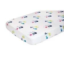 Oceanography Cotton Percale Flat Crib Sheet