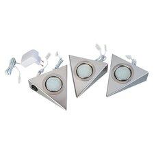 3-tlg. Einbauleuchte T-LED