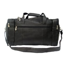 """Traveler 19"""" Leather Weekender Duffel with Side Pockets"""