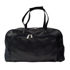 """Traveler Deluxe 17"""" Leather Carry-On Duffel"""