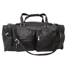 """Traveler 24"""" Leather Travel Duffel with Pockets"""