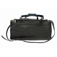 """Traveler's Select 18"""" Leather Small Travel Duffel"""