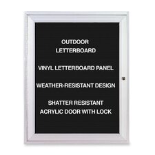 Outdoor Enclosed Letter Board, 3' H x 2' W