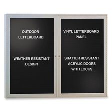 Outdoor Enclosed Letter Board, 4' H x 3' W