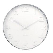 """Karlsson 15"""" Mr. White Wall Clock"""