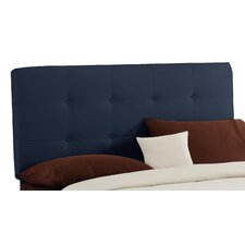Double Button Tufted Upholstered Panel Headboard