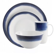 Simplicity Ombre Bone China 4 Piece Place Setting, Service for 1
