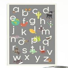 Nature Themed Alphabet Paper Print