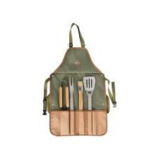 Linen BBQ Apron with Tools