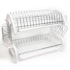 Home Basics 5 Piece 2 Tier Kitchen Sink Dish Drainer Set