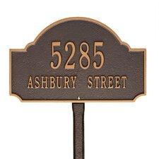 Fitzwilliams 2-Line Lawn Address Sign