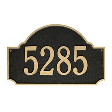 Fitzwilliams 1-Line Wall Address Plaque