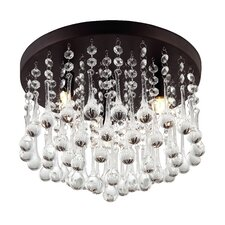 Mezzaluna 3-Light Flush Mount