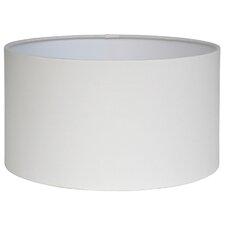 30 cm Trommel-Lampenschirm Poly Cotton aus Metall