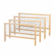 1.96' x 3.75' CritterGuard Cedar Garden Fence (Set of 4)