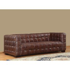 Nautical Leather Chesterfield Sofa