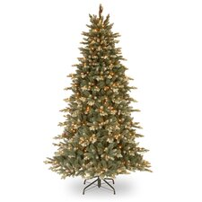 7.5' Green Spruce Artificial Christmas Tree with 750 Incandescent Clear Lights with Stand