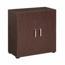 "Multifunctional 30"" H Cube Two Shelf Storage Cabinet"