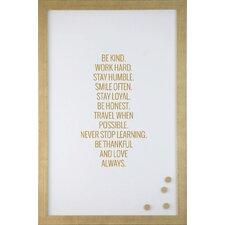 Be Kind Always Magnetic Memo Board