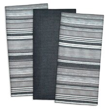 3 Piece Urban Stripe Cotton Dishtowel Set