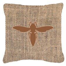 Yellow Jacket Burlap Indoor/Outdoor Throw Pillow