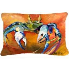 Blue Crab Fade Resistant Indoor/Outdoor Throw Pillow